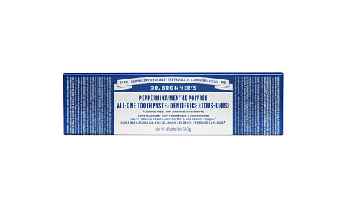 Organic All-One Toothpaste - Peppermint- Code#: PC1750