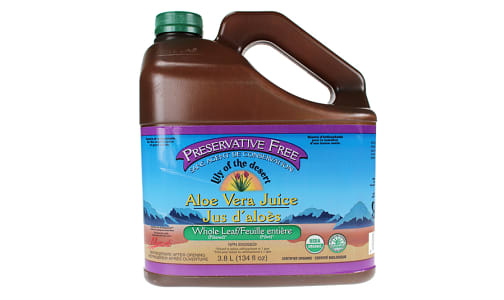 Organic Whole Leaf Aloe Vera Juice, Preservative Free- Code#: PC2022