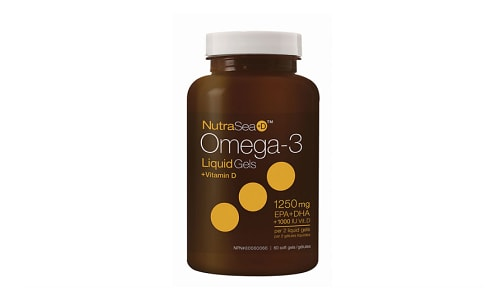 Omega-3 +D Liquid Gels - Fresh Mint- Code#: PC2058