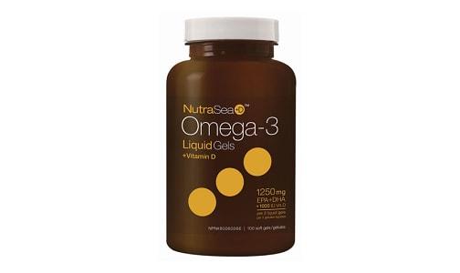 Omega-3 +D Liquid Gels - Fresh Mint- Code#: PC2059