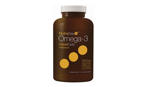 Omega-3 +D Liquid Gels - Fresh Mint- Code#: PC2060