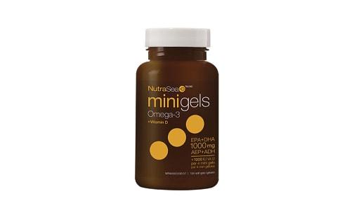Omega-3 +D Mini Gels - Fresh Mint- Code#: PC2065