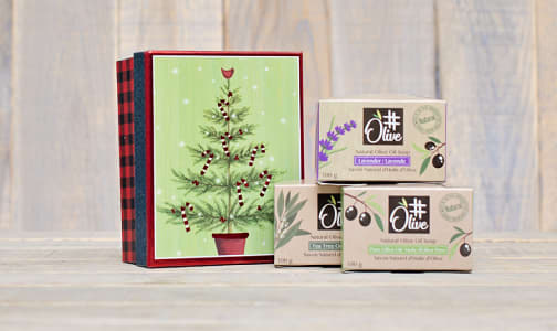 Holiday 3 Pack of Pure Olive Oil Soaps- Code#: PC2446