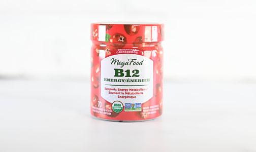 Organic Vitamin B12 Energy Cranberry Gummies- Code#: PC2464