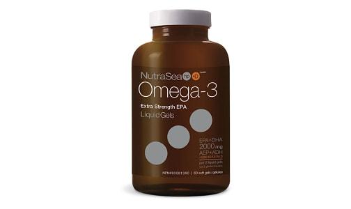 Omega-3 HP + D Liquid Gels, Extra Strength EPA - Fresh Mint- Code#: PC2566