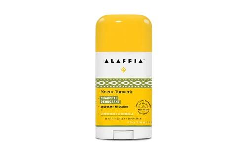 Neem Turmeric Deodorant - Lemongrass Charcoal- Code#: PC2673