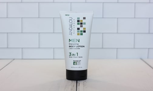 Organic Men's Energizing Body Lotion 3-in-1- Code#: PC2759