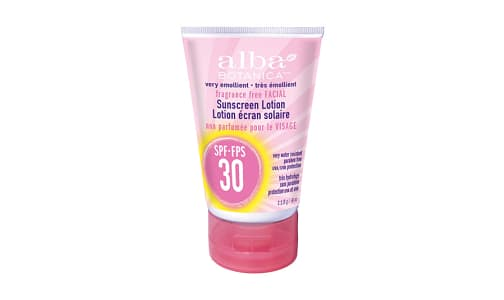 Facial Sunscreen - Fragrance Free, SPF 30- Code#: PC2799