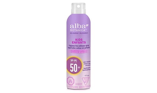 Kids Sunscreen, Clear Spray, SPF 50- Code#: PC2801