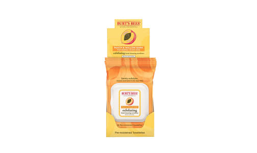 Exfoliating Facial Cleansing Towelettes With Peach and Willow Bark- Code#: PC2815