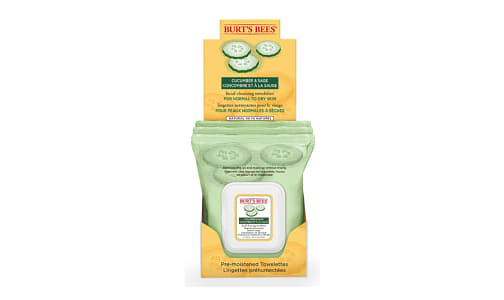 Facial Cleansing Towelettes With Cucumber and Sage- Code#: PC2817