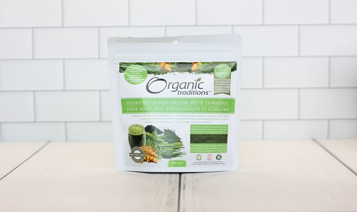 Organic Probiotic Super Greens with Turmeric- Code#: PC2942
