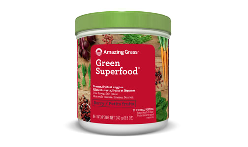 Organic Berry Green Super Food Powder- Code#: PC3101