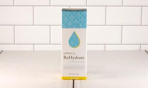 ReHydrate + TruMarine™ Collagen Stick Packs - Lemon- Code#: PC3404