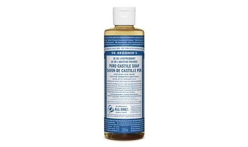 18-in-1 Hemp Pure-Castile Soap - Peppermint- Code#: PC3625
