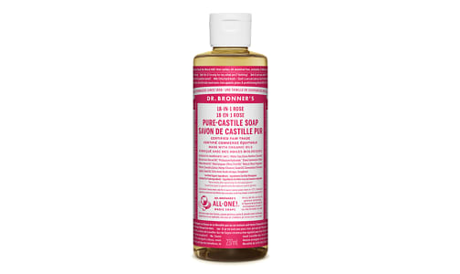 18-in-1 Hemp Pure-Castile Soap - Rose- Code#: PC3631