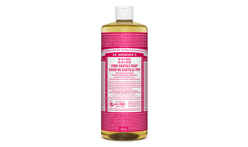 18-in-1 Hemp Pure-Castile Soap - Rose- Code#: PC3633