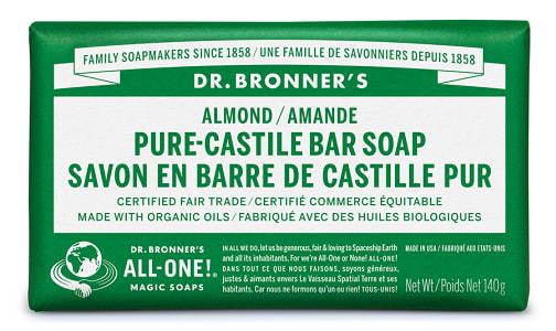 Pure-Castile Bar Soap - Almond- Code#: PC3638