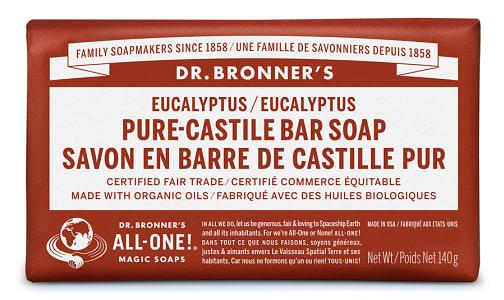 Pure-Castile Bar Soap - Eucalyptus- Code#: PC3639