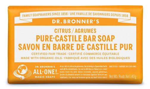 Pure-Castile Bar Soap - Citrus- Code#: PC3640