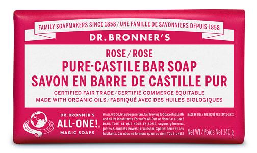 Pure-Castile Bar Soap - Rose- Code#: PC3641