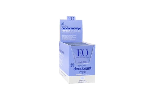 Organic Deodorant Wipes - Lavender- Code#: PC3711