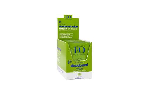 Organic Deodorant Wipes - Tea Tree- Code#: PC3712