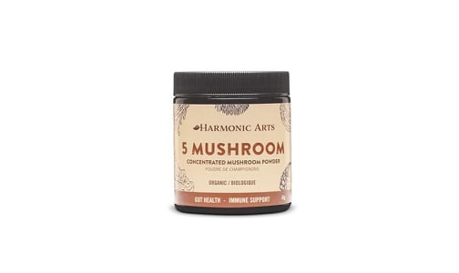 Organic 5 Mushroom Concentrated Mushroom Powder- Code#: PC410576