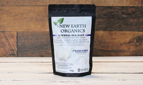 Organic New Earth Organics Crystal Sea Salt 454G- Code#: PC410708
