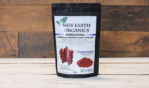 Organic New Earth Organics Schizandra American 100G- Code#: PC410710