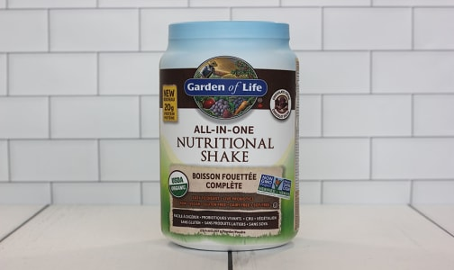 Organic RAW All-In-One Shake - Chocolate- Code#: PC410769