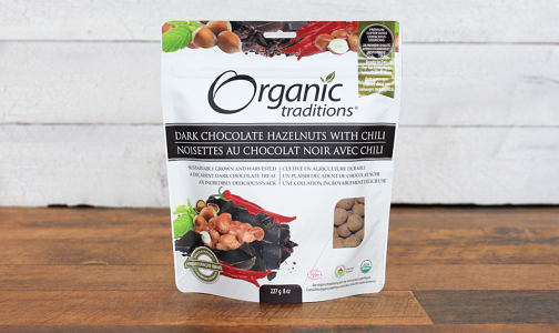 Organic Dark Chocolate Covered Hazelnuts With Chili- Code#: PC410886