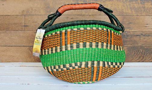 African Basket, Round- Code#: PC410910