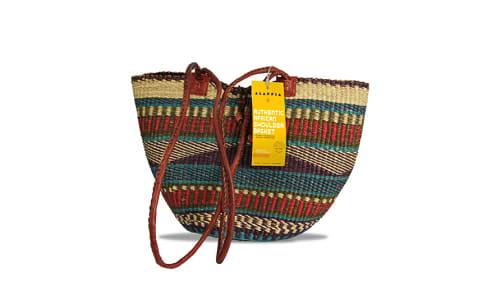 Handwoven African Basket, Shoulder- Code#: PC410912