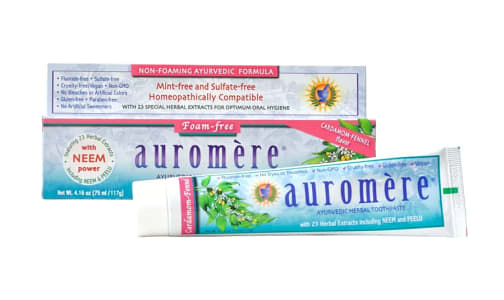 Auromère® Cardamom Fennel Toothpaste, Foam Free SLS Free- Code#: PC4117