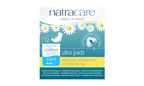 Organic Ultra Pads With Wings - Super- Code#: PC418