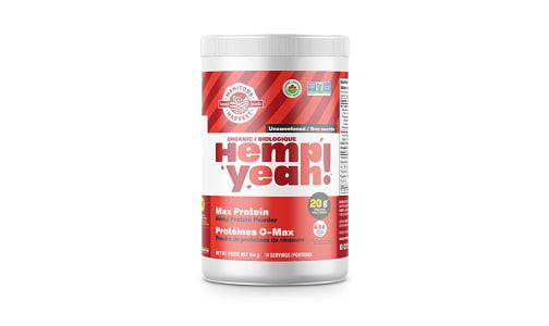 Hemp Yeah! Max Protein Hemp Powder - Unsweetened- Code#: PC4218