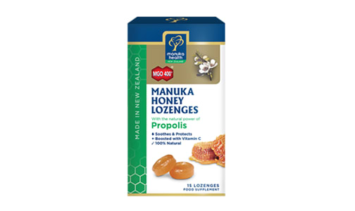 Manuka Honey & Propolis Lozenges MGO 400+- Code#: PC4228