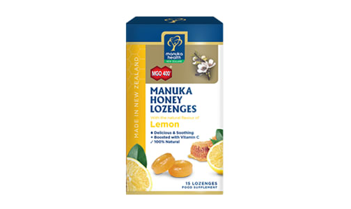 Manuka Honey & Lemon Lozenges MGO 400+- Code#: PC4229