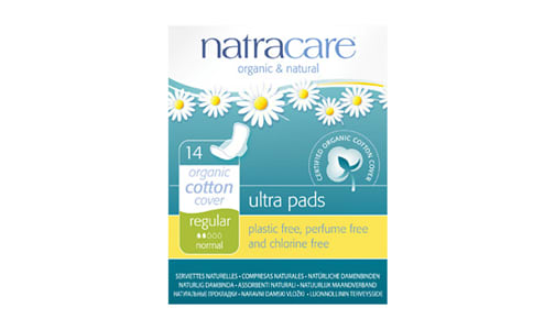 Organic Ultra Pads With Wings - Regular- Code#: PC427