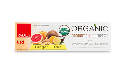 Organic Toothpaste - Ginger Citrus- Code#: PC4329