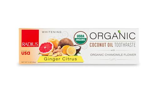 Organic Toothpaste - Ginger Citrus- Code#: PC4329