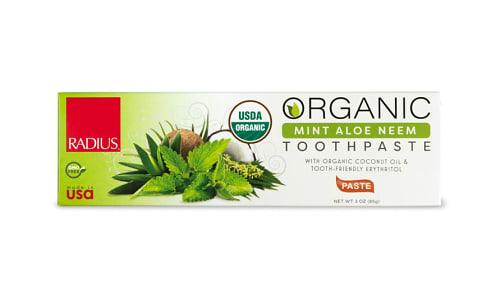 Organic Toothpaste - Mint Aloe Neem- Code#: PC4330