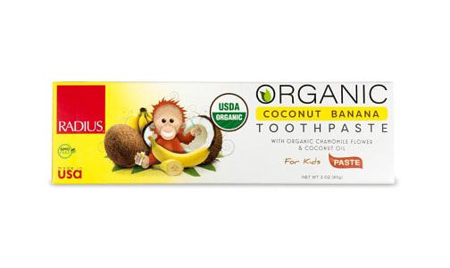 Organic Toothpaste - Coconut Banana- Code#: PC4331