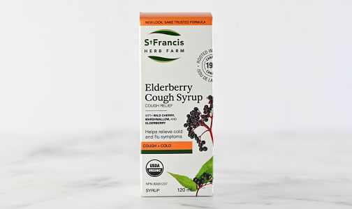 Organic Elderberry Cough Syrup - Adult- Code#: PC4379