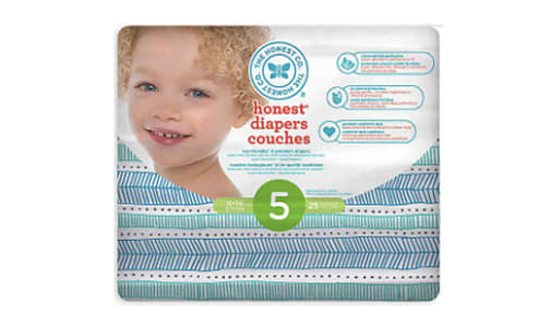 Diapers Size 5; Teal Tribal- Code#: PC4590