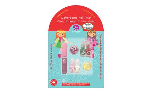 Holiday Lip Gloss Nail Sparkle Kit- Code#: PC4700