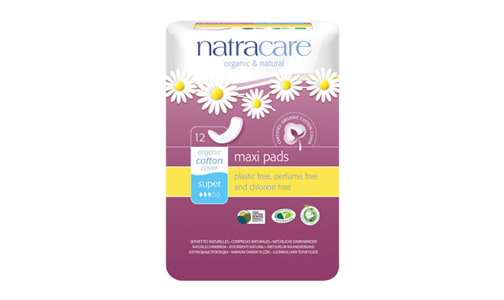 Organic Natural Maxi Pad - Super- Code#: PC4716