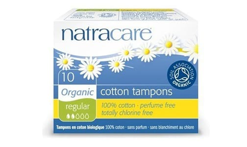 Organic Tampons Without Applicator - Regular- Code#: PC4722