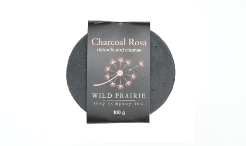 Charcoal Rosa Natural Bar Soap- Code#: PC4752